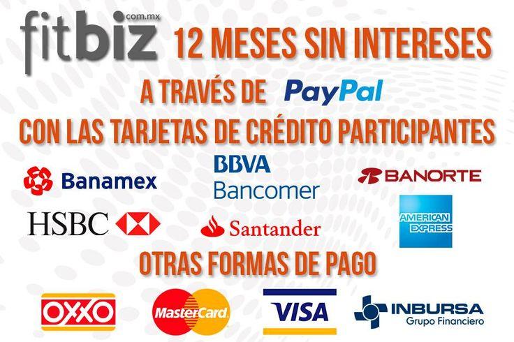 12 #MesesSinIntereses a través de #PayPal con las tarjetas de #crédito participantes. También puedes pagar en cualquier #Oxxo