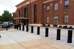 Reliance Foundry's model R-7535 bollard contributes to the traditional architecture of the Diridon Train Station in San Jose.