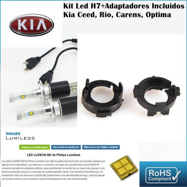 Kit Led Kia Ceed Rio Carens ,con led PHILIPS de 9600 Lúmenes, Kit de conversión de Faros Halogenos H7 a Faros Led + Adaptadores :: MERCAELITE, kit xenon,Kit Led,Bombillas Led y Xenon,Accesorios