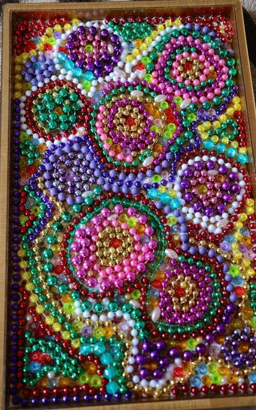 10 Minute Bead Mosaic | iLoveToCreate