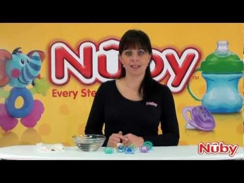 An online guide on how to use and sterilise Nuby soothers