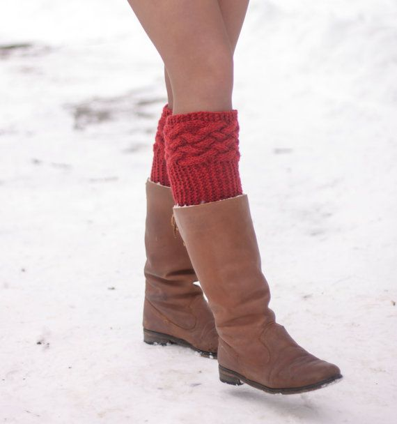 Cuff boots. Warm feet. Loading. Winter. Autumn. by LoveKnittings