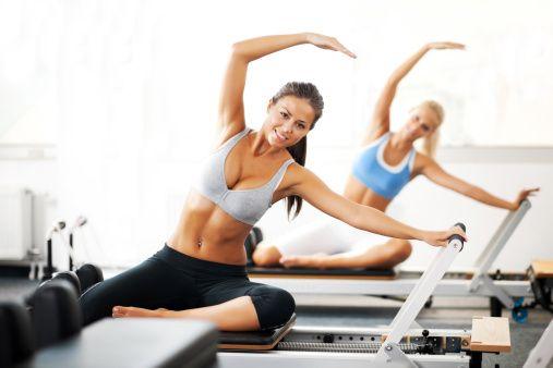 Pilates reformer. Love the Mermaid stretch!