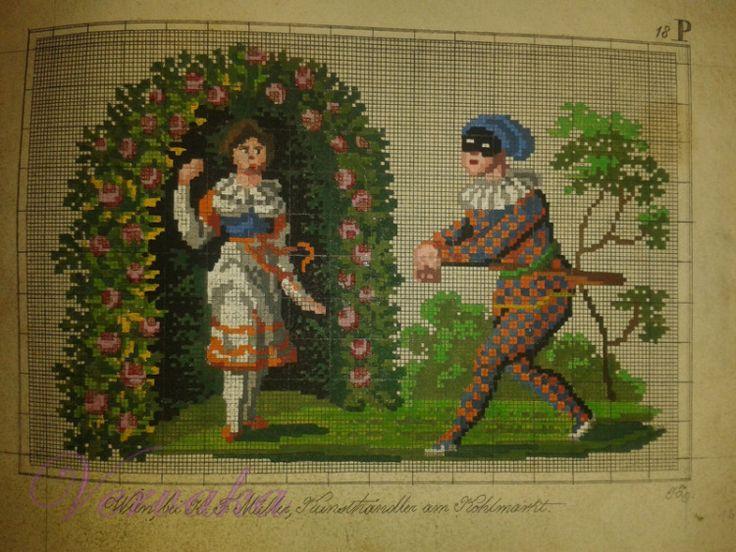 A Lovely Berlin WoolWork Pattern Produced By H F Muller In Berlin ~ Gallery.ru / Фото #5 - *** - GAVRUCHA