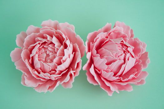 The link to this includes a tutorial on tools needed plus instruction on how to make a sugar paste peony. Fabulous!