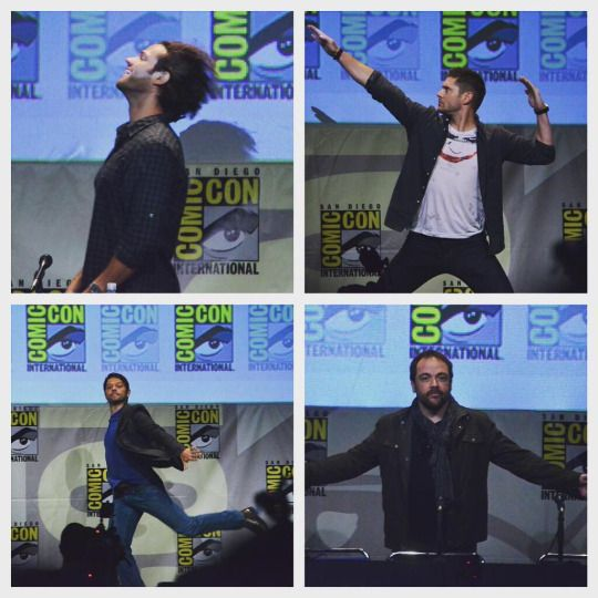 The Supernatural cast... such dorks. Lovable dorks.