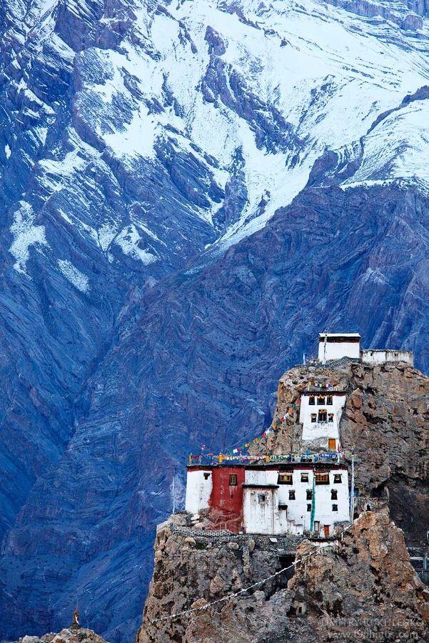 India Incredible Dhankar Gompa, Spiti Valley, Himachal Pradesh, India
