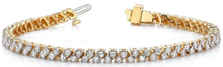Diamantarmband 3.00 Karat Diamanten aus 585er Gelbgold gefertigt für nur 4100.00 Euro bei www.juwelierhausabt.de in Dortmund bestellen.