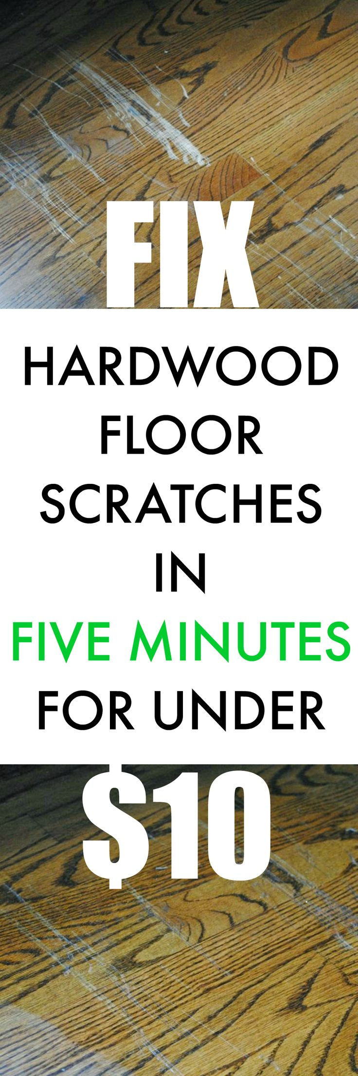 How to fix hardwood floor scratches in about five minutes for under $10!