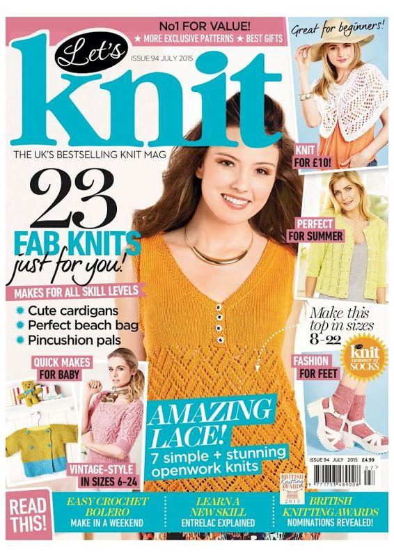 Let's knit N094 july 2015 Capri sunrise debardeur Blackberry delightful shawl