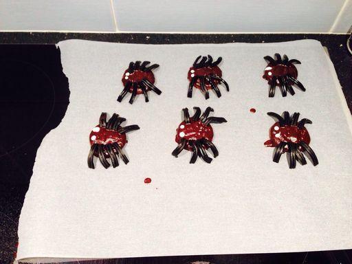 Photo 3 de recette Gâteau aux araignées - Marmiton