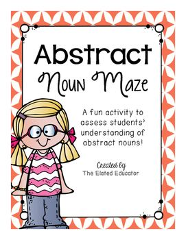 This abstract noun maze is a quick and easy way to assess students'…