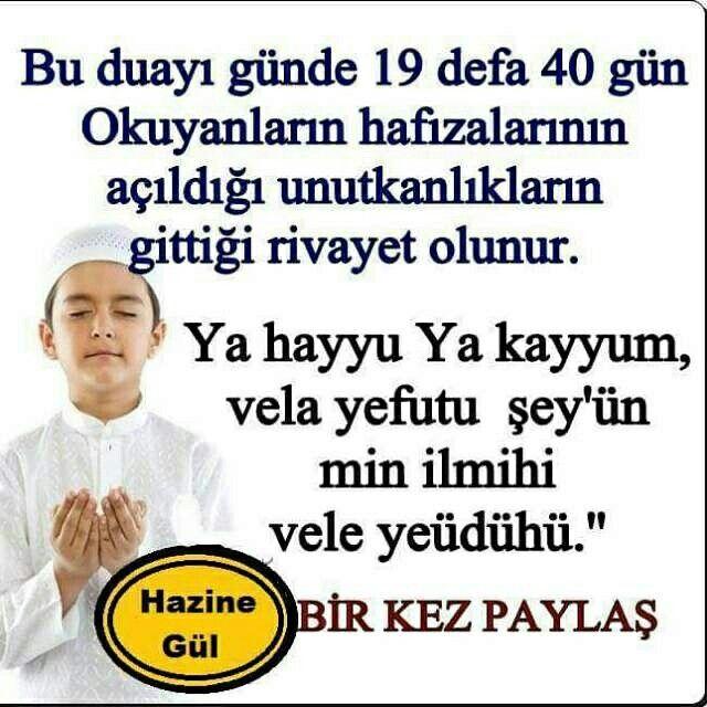 Unutkanlık için dua