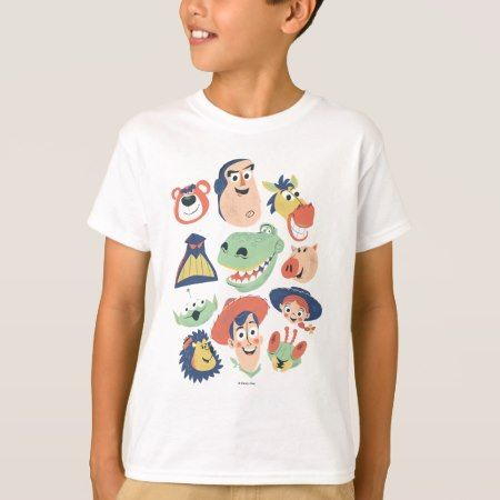 Vintage Painted Toy Story Characters T-Shirt - click to get yours right now!