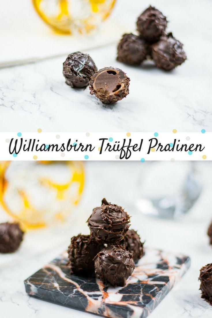 Trüffel Pralinen mit einer cremigen Williamsbirn Füllung. Die perfekten Pralinen für alle, die Pralinen und Schokolade lieben. Zartschmelzend und sehr lecker.  via @heissehimbeeren