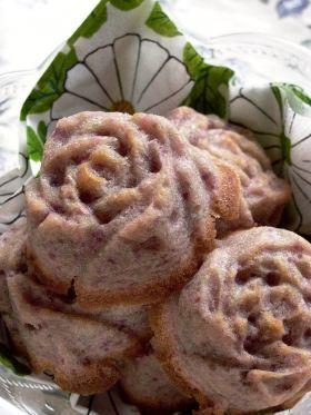 「ムラサキイモのマドレーヌ(卵不使用)」うさ子 | お菓子・パンのレシピや作り方【corecle*コレクル】