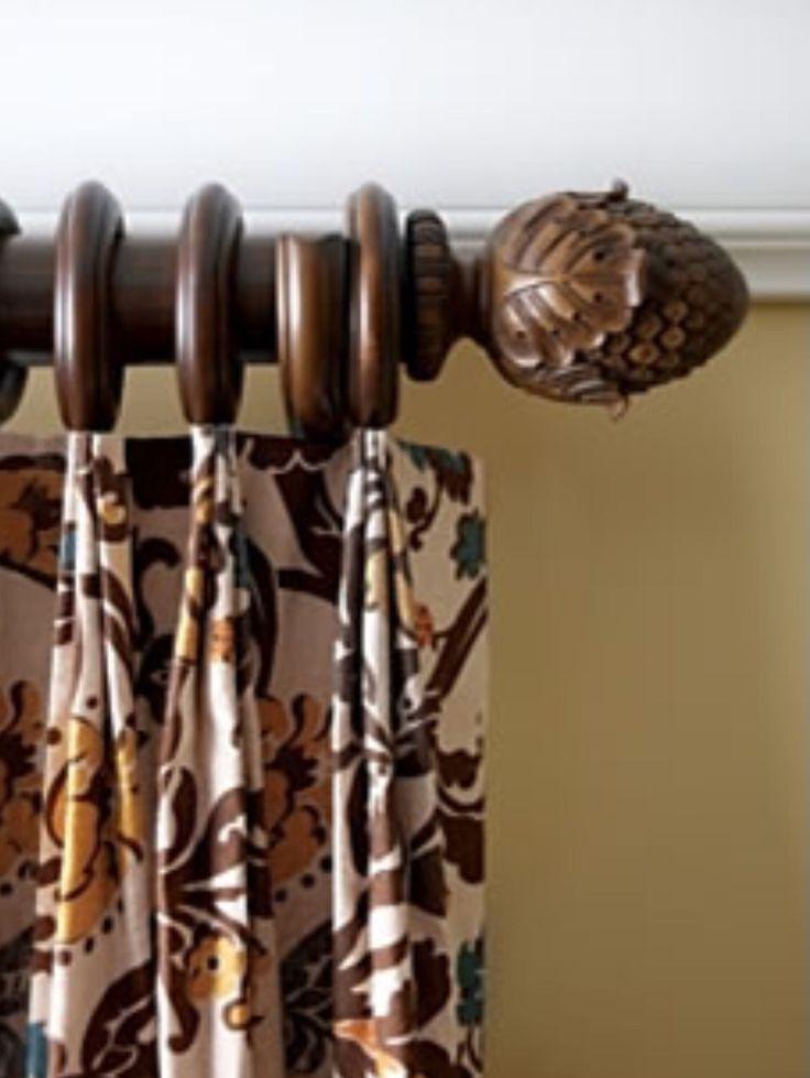 like pleat just enough wood trends classic oakleaf finial in hazelnut finish