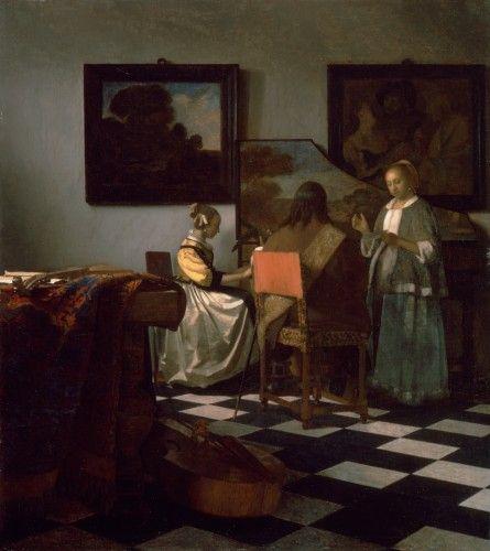 The Concert  about 1665  Johannes Vermeer, Dutch, 1632-1675. Isabella Stewart Gardner Museum. Boston. USA