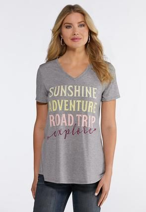 d4625240c Sunshine Adventure Tee Tops Cato Fashions | My Style | Fashion, Tees ...