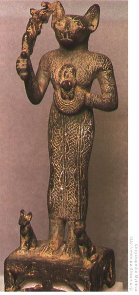 Bastet  the egyptian moon goddess and goddess of cats.
