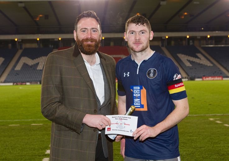 Queen's Park's Ryan McGeever Man of the Match after the Ladbrokes League One game between Queen's Park and Brechin City.