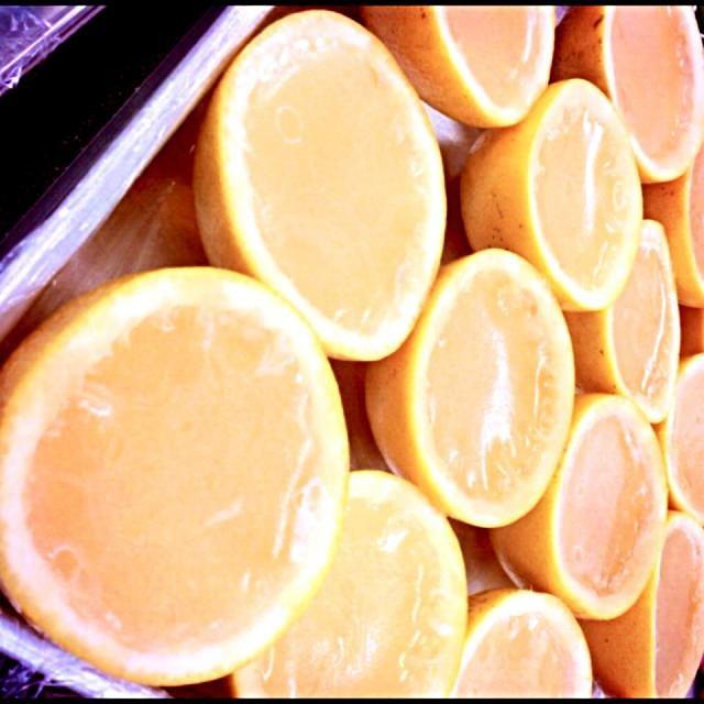 2013.6.4.thu グレープフルーツゼリー* 果汁100%! - 9件のもぐもぐ - グレープフルーツゼリー by hittom