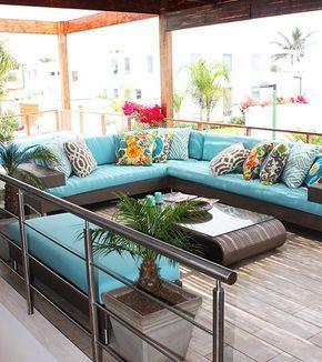 Terraza de Casa Playa Blanca, Asia - Perú. By ALMA Arquitectura e Interiores #ProyectosAlma