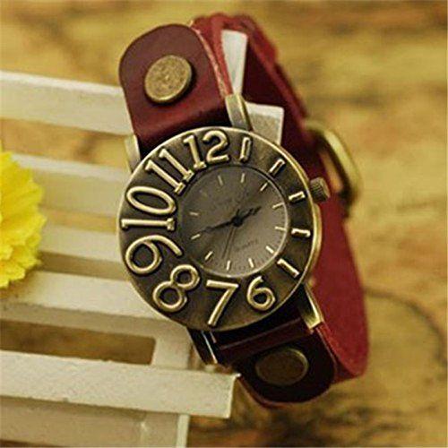 MP Women's Vintage Round Shape PU Belt Watch 050221 XDP 0617
