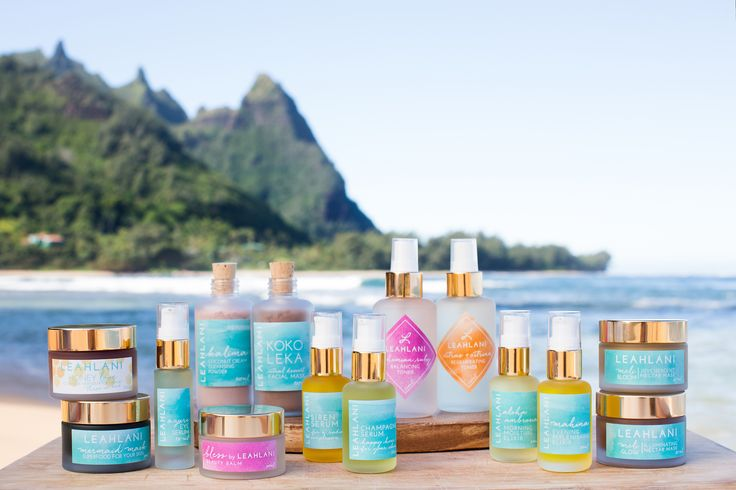 Organic face masks, antiaging serums and elixirs, and tropical cleansers and exfoliators made in intimate batches in Hawaii by Leah, a Holistic Esthetician.