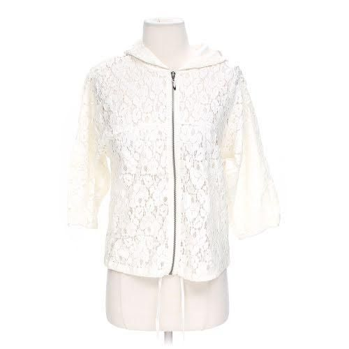 Mystree Cream Jacket. Free shipping and guaranteed authenticity on Mystree Cream Jacket at Tradesy. Mystree S Lace Full Zip Front Ivory Cream 3/4 Slee...