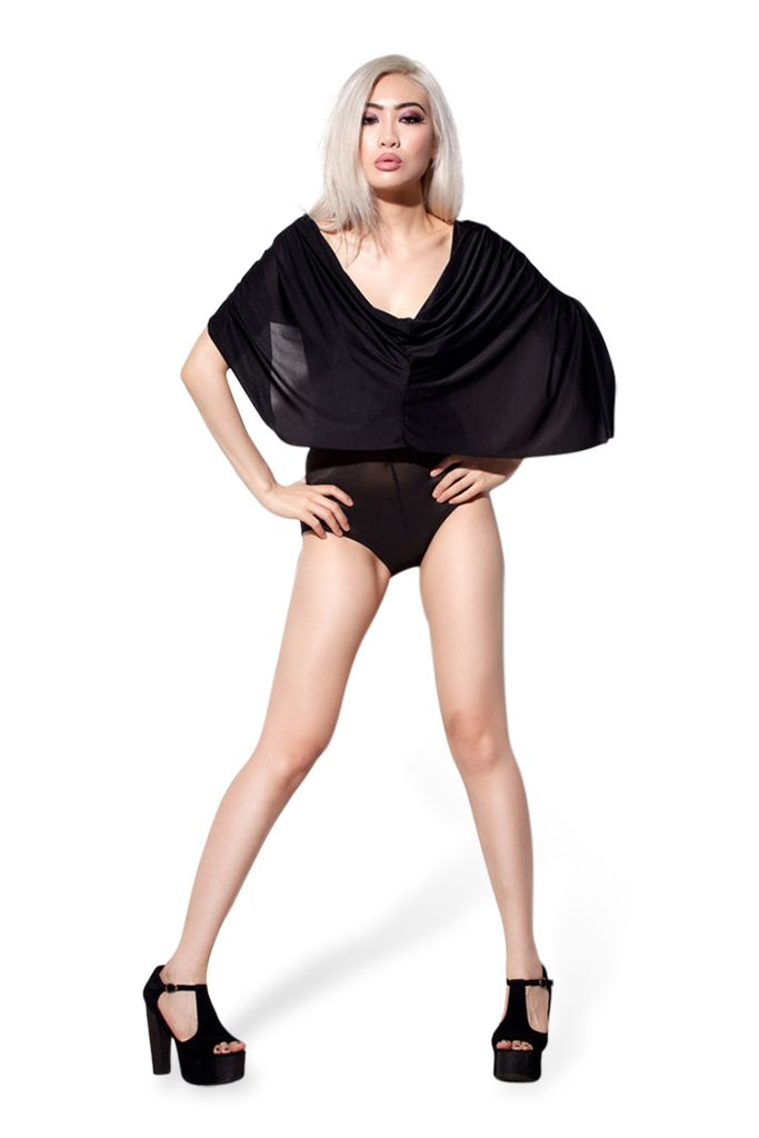 Hooded Sheer Black Bodysuit – Black Milk Clothing