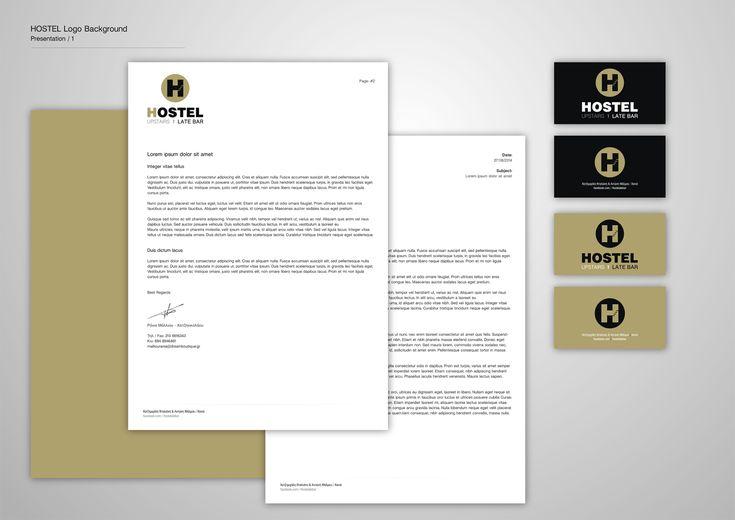 Corporate Identity Hostel_Upstairs_Late Bar_Logo Presentation_Yianart