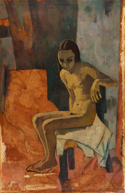 Felice Casorati (Italian, 1883-1963) - Nude, 1943