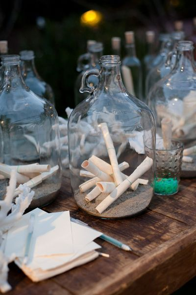 Ashlee, you could even make the bottles part of the center pieces!