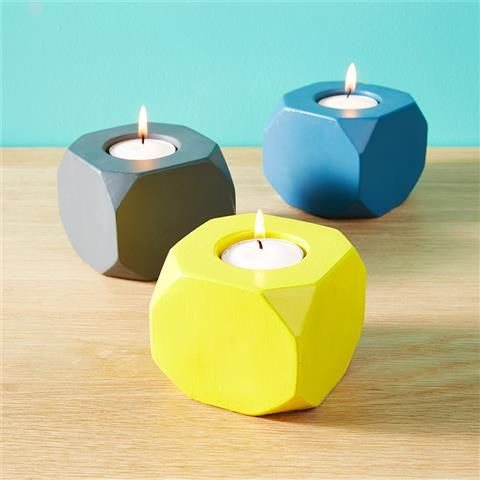Mood Board Monday {The Bandwagon} - Geometric tea lights - set of 3 - Kmart