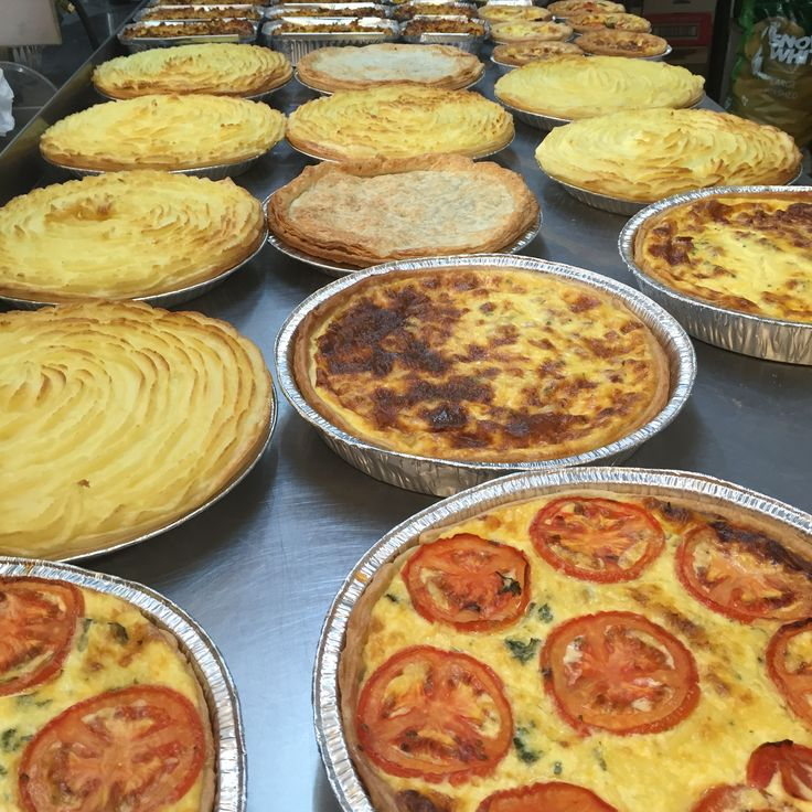 Homemade pies and quiches
