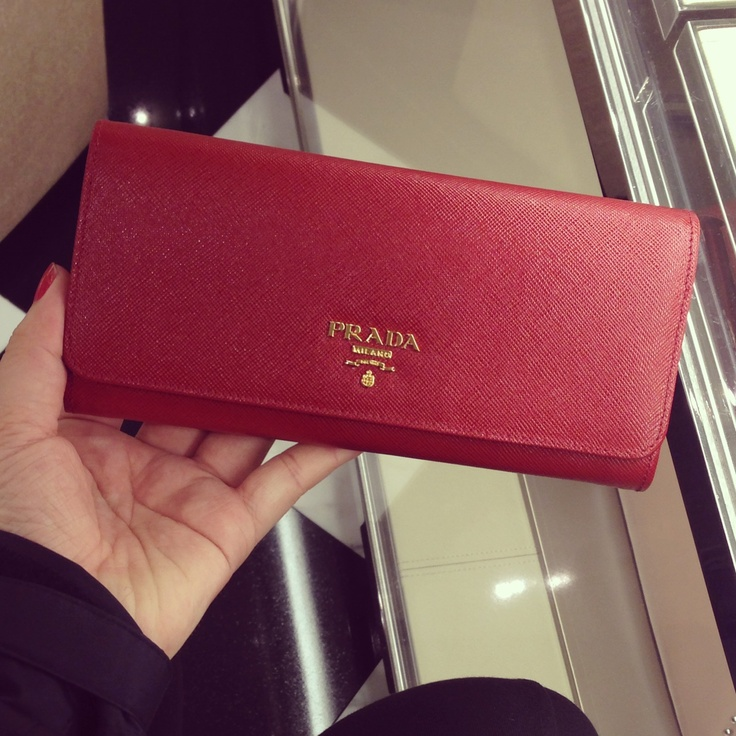 My baby Prada Wallet in Fuoco | wallets | Pinterest | Prada Wallet ...