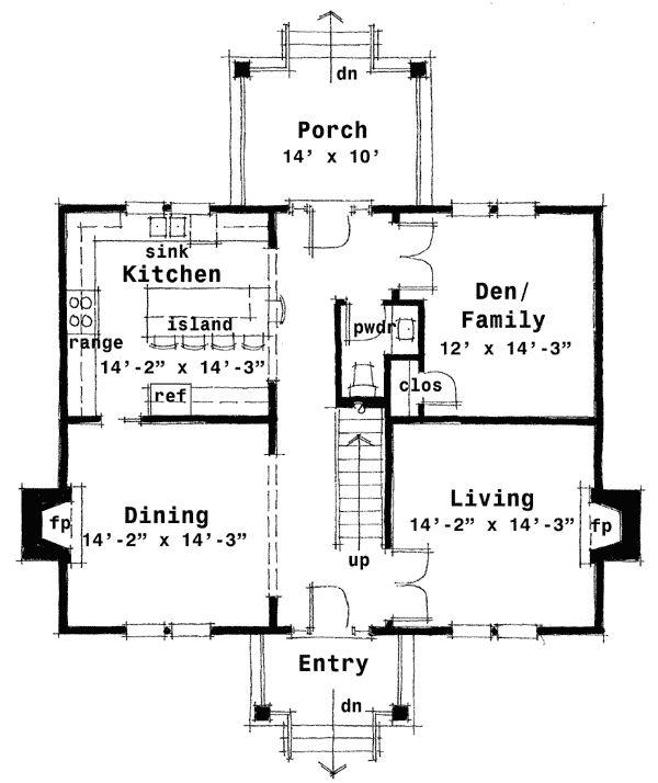 Floor Plans Kitchen Middle House