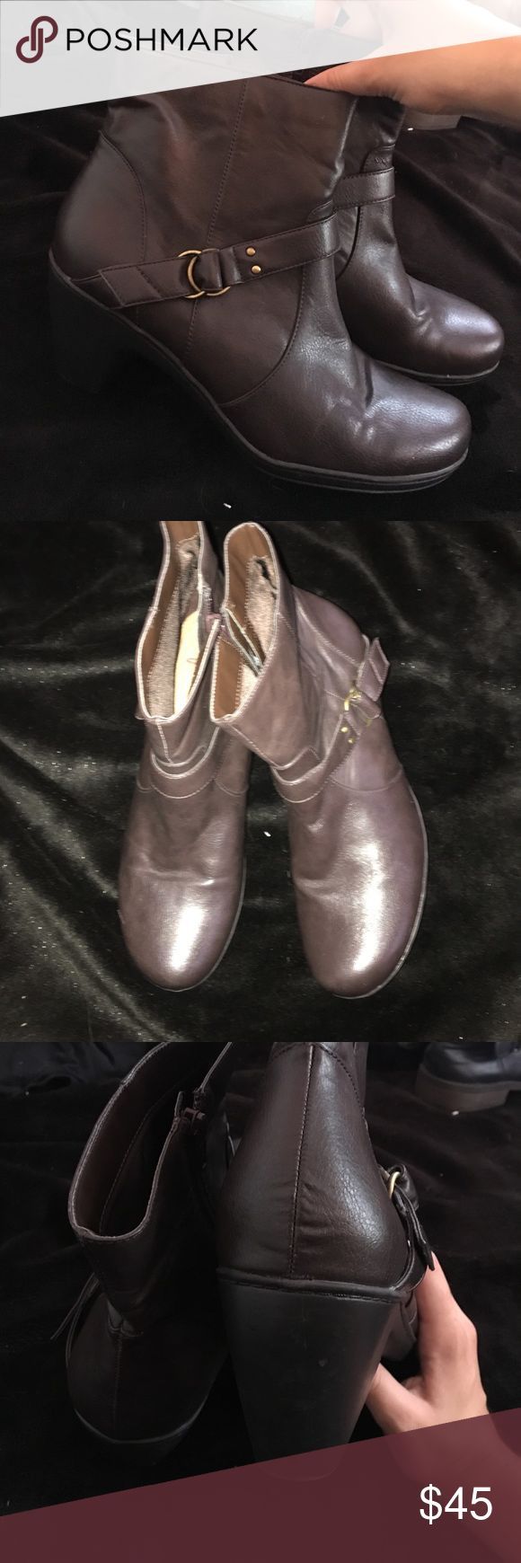 Dark Brown Ankle Boots / OFFERS ACCEPTED MUST GO Leather Dark Brown Ankle boots. good condition. zipper on side. Shoes Ankle Boots & Booties