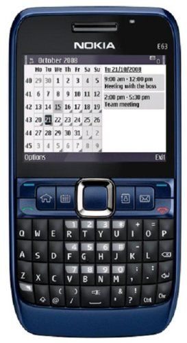Nokia E63-2 Unlocked Phone with 2 MP Camera, 3G,