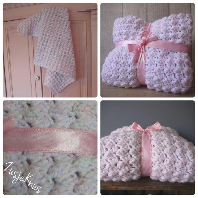 Patroon 'wiegdeken'| Pattern 'crib blanket' - ZusjeKnus