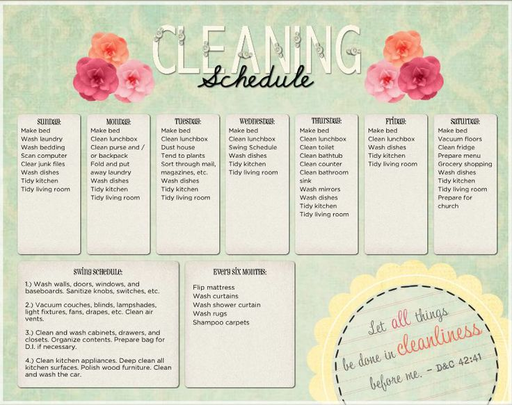 19 best home images on Pinterest - sample cleaning schedule template