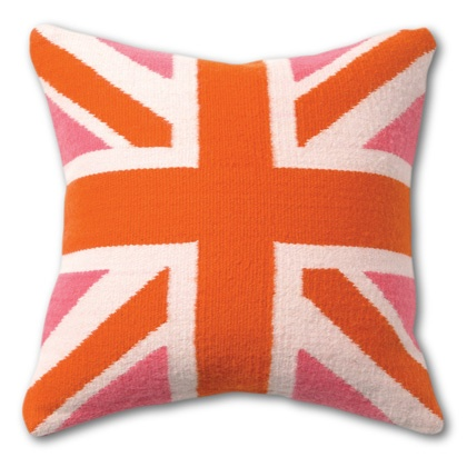 need this for my girls room... but probably not gonna drop 100 bucks on it: Jack Pillows, British Flags, Adler British, Eclectic Pillows, Orange And Pink Pillows, Flags Pillows, White Couch, Jonathan Adler, Union Jack