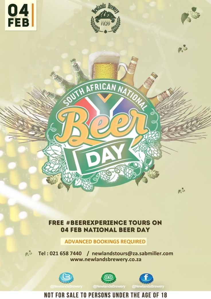 Newlands Brewery's South African National Beer Day celebrations