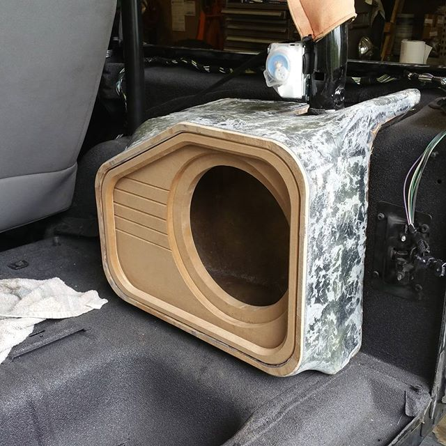 Test fit the Project Chief sub enclosure before smoothing it out for coating. Really no reason it ...