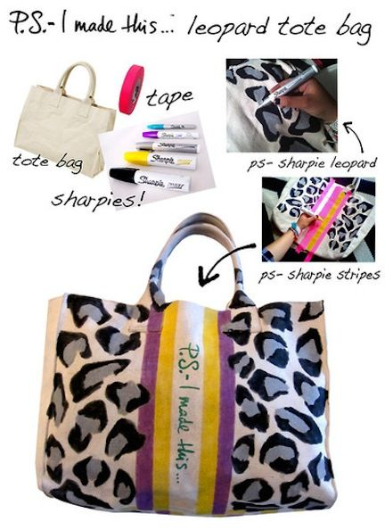Not feeling this particular design but love the endless possibilities of a canvas bag, tape and sharpies