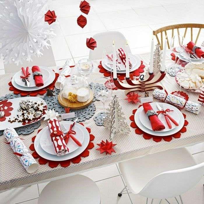 Idee per apparecchiare la tavola per la Vigilia di Natale - Tavola di Natale minimal