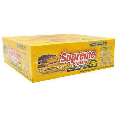 Supreme Protein Peanut Butter Crunch Quadruple Layer Protein Bars, 3 oz, 12 count