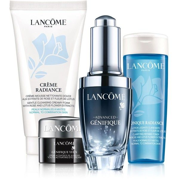 Lancome 4-Pc. Advanced Genifique Set (315 RON) ❤ liked on Polyvore featuring beauty products, skincare, sp, lancome skin care, lancome skincare, lancome beauty products and lancôme