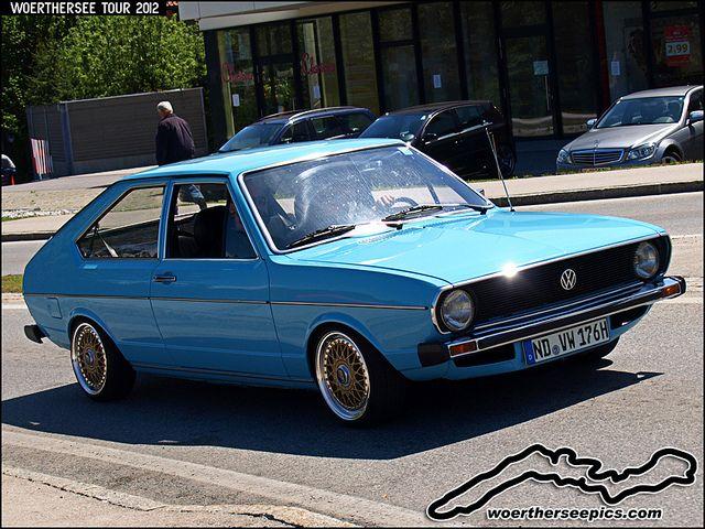 Blue VW Passat Mk1 by retromotoring, via Flickr